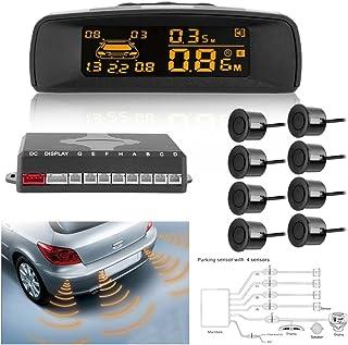 Kit 8 Sensori Di Parcheggio Per Auto Con Display Led Verniciabili FOREVERED Sistema di rivelazione Radar ad inversione di parcheggio con Display a LED Sistema Radar retromarcia per parcheggio Auto