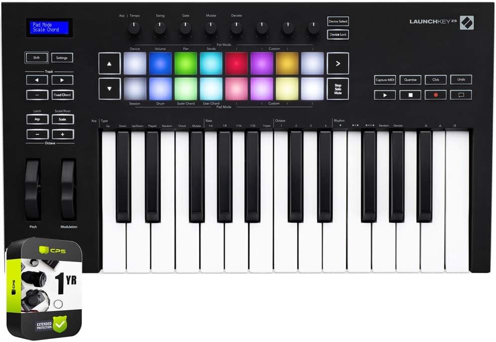 Ranking TOP12 Novation High order AMS-LAUNCHKEY-25-MK3 Launchkey 25 Keyboard Controll USB