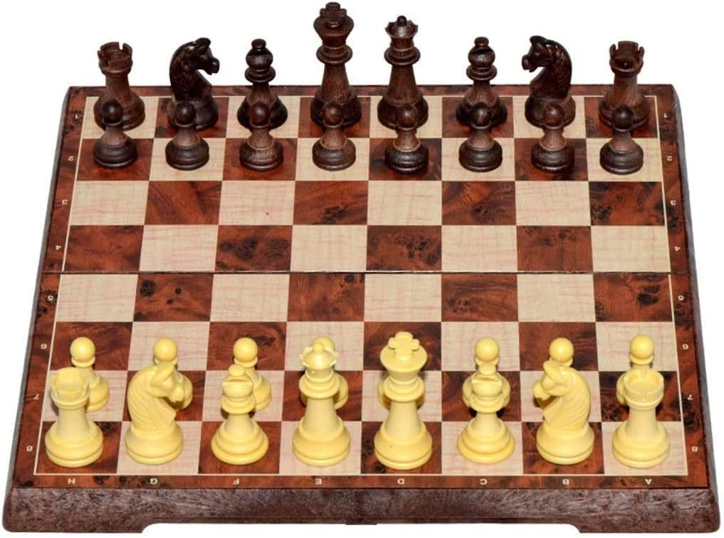 Chess Portable Set Best Long Beach Mall Reservation Wood Grain Game Imitation