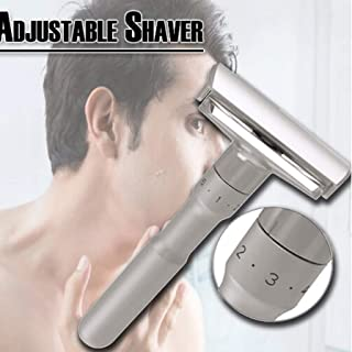 SimplylinAdjustable Shaver 1-6 Files Safety Mens Double Edge Shaver Zinc Alloy