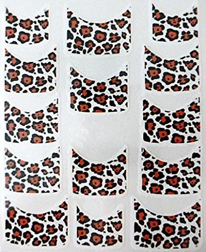 CM Nail Art manucure Stickers Ongles Scrapbooking: 14 décalcomanies Motifs léopards Design