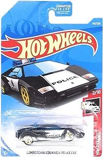 Hot Wheels 2019 HW Rescue Lamborghini Countach Police Car 142/250, Black