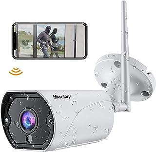 Cámara IP WiFi para Exterior 1080P Cámara Vigilancia Exterior WiFi Visión Nocturna Audio de 2 Vías Detección de Movimiento Monitorización Remota vía PC Smartphone Tableta