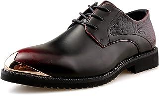 DADIJIER Oxfords Vestido Zapatos para Hombres Tallo De Cordón De Cordón De Cordón De Metal De Cordón De Metal