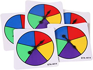 hand2mind Five Color Spinners, Plastic (Pack of 5)