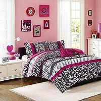 Mi Zone Mizone Reagan Comforter Set (Pink-Full/Queen)