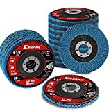 <span class='highlight'><span class='highlight'>EZARC</span></span> 20 Pack Flap Discs 115 x 22.23 mm Zirconia Grinding Wheel Type 29 Assorted Grit 40/60/80/120 Angle Grinder Sanding Disc for Stainless Steel, Cast Iron and Sheet Metal