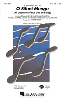 Hal Leonard O Sifuni Mungu (All Creatures of Our God and King) TTBB by First Call arranged by Roger Emerson