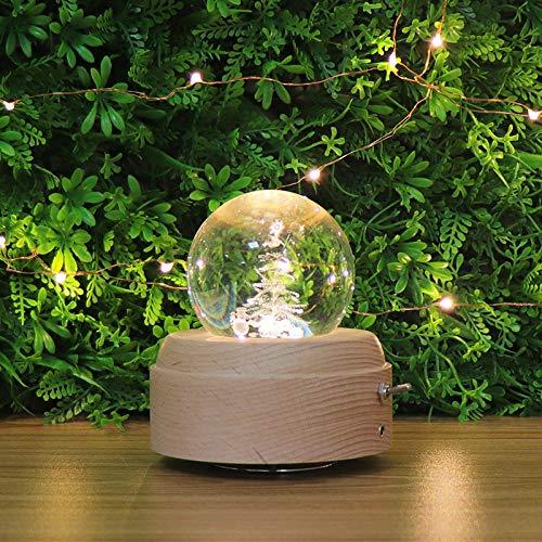 Led nachtlichtkreative kristallkugel spieluhr holzspieluhr transparent kristallkugel spieluhr nachtlicht klingel glocken spieluhr_weihnachtsbaum