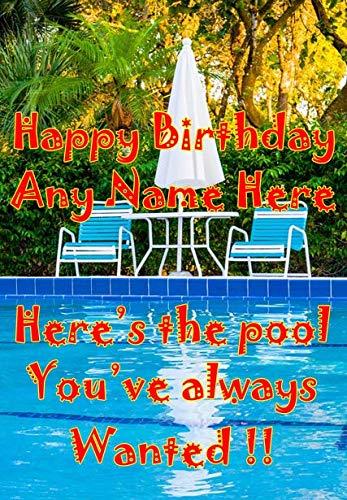 Always Wanted A Pool Fun fht19 Lustige süße Geburtstagskarte, A5, personalisierbar, von US-Geschenken für alle 2016 von Derbyshire UK