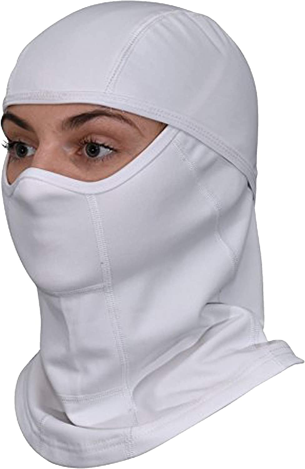 Balaclava Premium Winter Breathable Full Face Ski Mask for Men and Women Skiing, Snowboard, Running, Motorcycle and Cycling (1 Pack, White)
