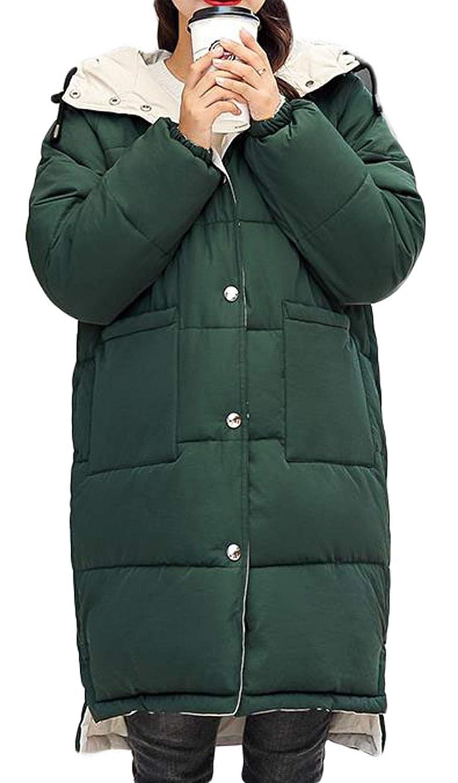 ZhongJue(ジュージェン)中綿コート レディース ゆったり ロングコート 綿入れ フード付き 防寒着 あったか 冬服 韓国ファッション ダウンコート