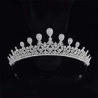 SUIWO Principessa Corona Gemme Strass Tiara Kid Girl Prom Compleanno primany Party Corona Sposa Sposa Wedding Accessori da...