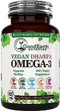 Vegan Omega 3 - Potent Plant Based Algal DHA & EPA from Marine Algae - Better Than Fish Oil - 60 Veggie Softgels - Supports Brain, Heart, Joints & Prenatal Health - Essential Fatty Acids Supplements