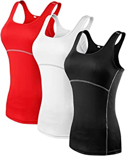 JNINTH.Dry Fit Compression Running Vest Yoga Women's Tank Top T-Shirt