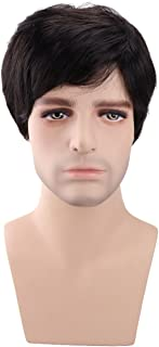 Kalyss Men's Short Black Brown Synthetic Hair Wig