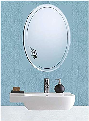 Eyeonbay Kichen Home Apppliances Frameless Oval Shape Designed Mirror M 173 For Wall Bathroom Wall D Cor Size 16 X 12 Inches White Color
