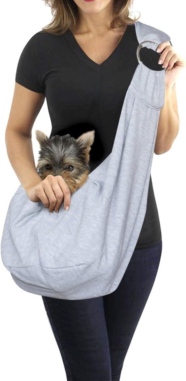 Medium Dog Carrier Pet Sling Bag with Adjustable Strap HandsFree Outdoor Tote Travel Reversible Bag