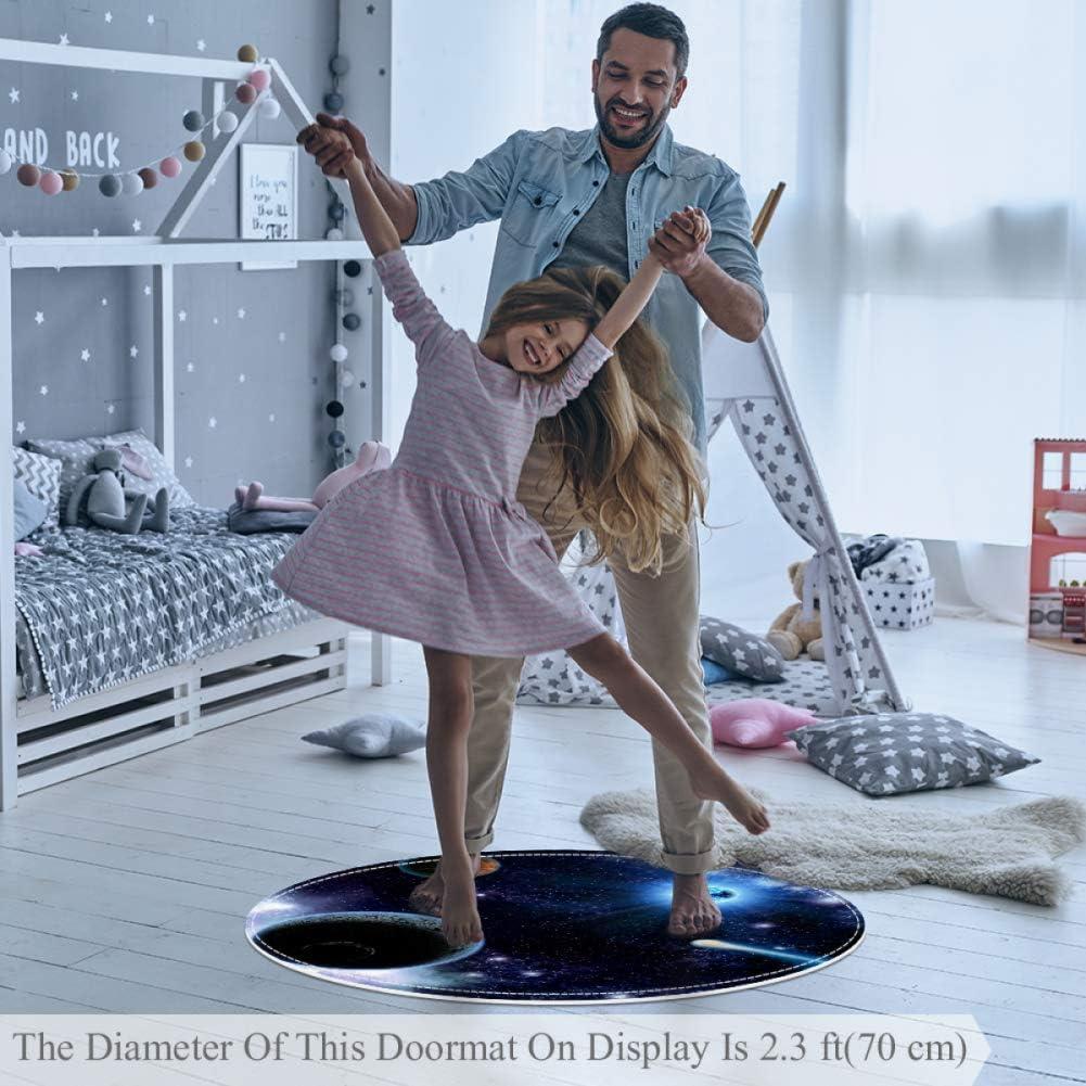 Eau de mer bleu clair Tapis de ramper pour enfants Tapis modernes doux ronds pour les d/écorations de salle de plancher 100x100cm