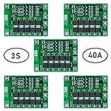 5個セット 3S 12.6V 13.6V 40A拡張バージョン リチウムイオンバッテリ18650充電器PCB BMS保護ボード電源アクセサリ