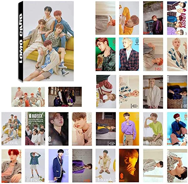 Beautymei Kpop Blackpink AB6IX GOT7 X1 ITZY Red Velvet Photo Card PhotoBook Poster Lomo Cards Gift For Fans AB6IX 30Pcs