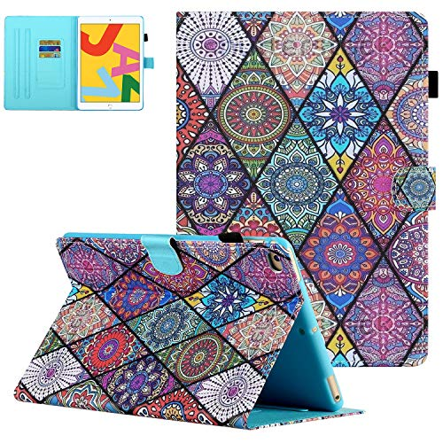 iPad Air 2/Air 1 Case, iPad 9.7 2018 2017 Case with Pencil Holder, UGOcase Folio Stand Full Protection Cover Auto Sleep Wake Wallet Case for iPad 6th/5th Gen 2018/2017, iPad Air 1 2 - Pattern