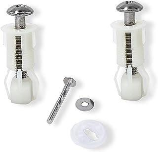 PPX Lot de 2 WC siège couvercle Vis extensible en nylon et écrous de fixation supérieure