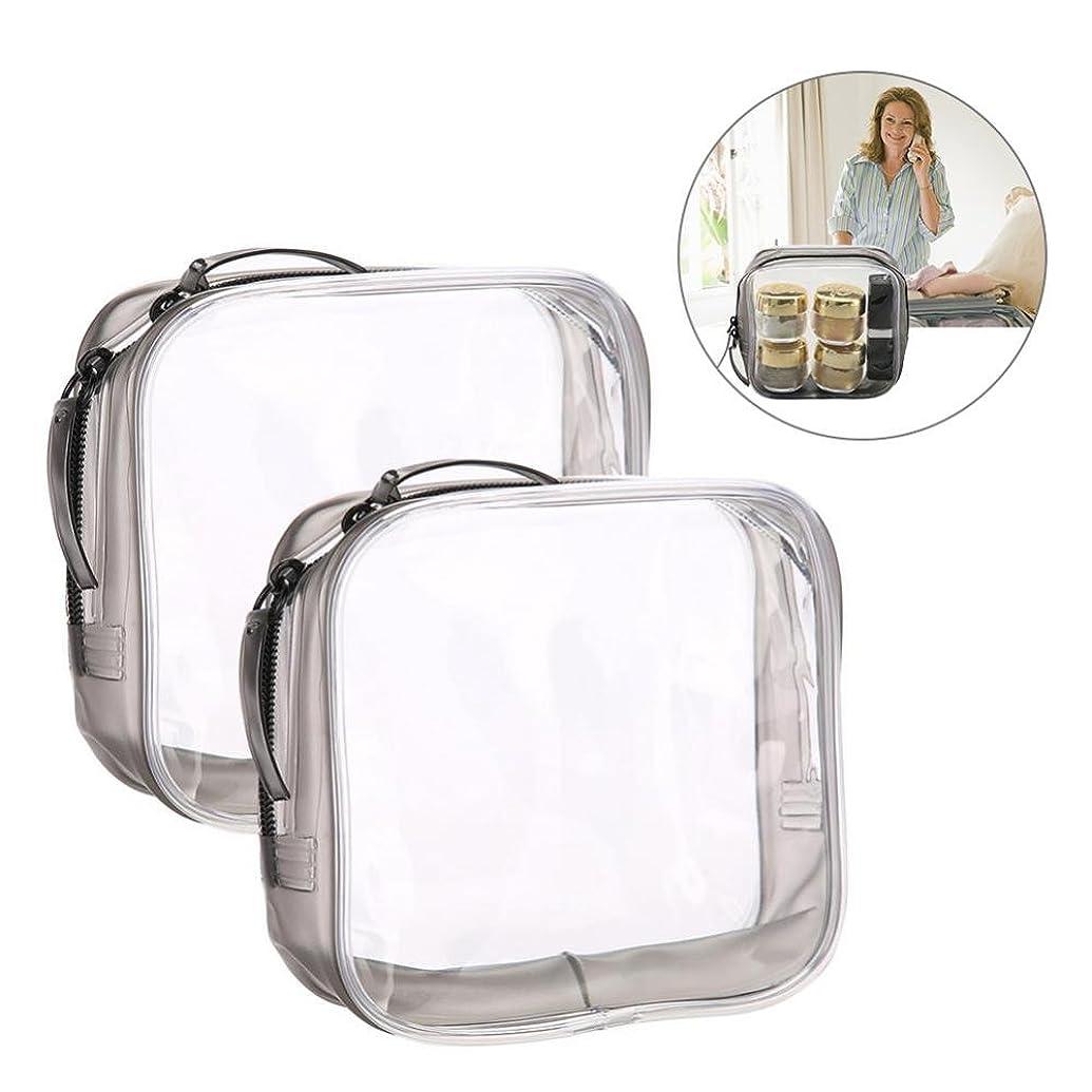 義務付けられた穀物集計メイクアップバッグ、旅行&家庭用の収納トイレタリーの透明PVC化粧品バッグ (S)