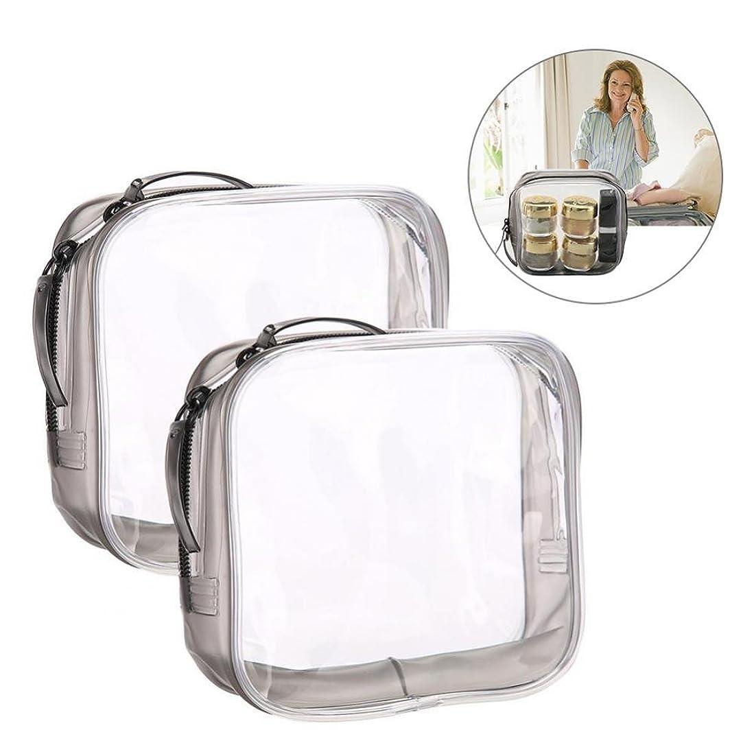 細分化する情報定期的なメイクアップバッグ、旅行&家庭用の収納トイレタリーの透明PVC化粧品バッグ (S)