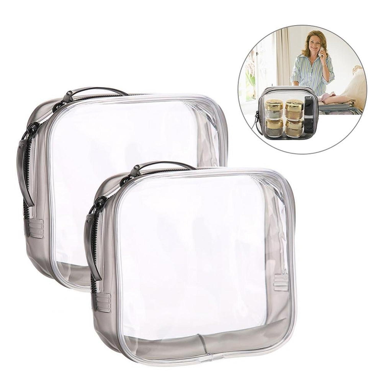 メイクアップバッグ、旅行&家庭用の収納トイレタリーの透明PVC化粧品バッグ (S)