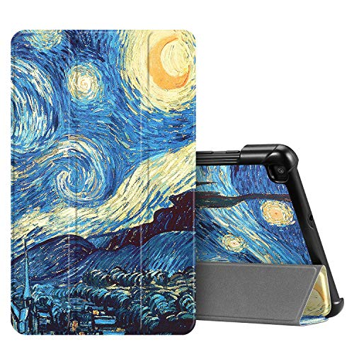 Fintie SlimShell Case for Samsung Galaxy Tab A 8.0 2019 Without S Pen Model (SM-T290 Wi-Fi, SM-T295 LTE), Ultra Thin Lightweight Tri-Fold Stand Cover, Starry Night