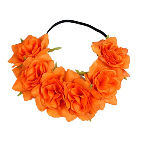 Floral Fall Rose Holiday Crown Festival Headbands Hippie Flower Headpiece  F-53 24d03acdf41