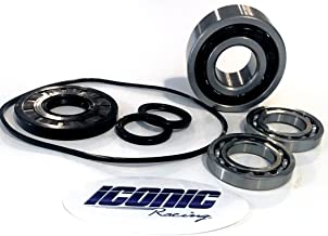 Iconic Racing Front Differential Gear Case Bearing and Seal Kit with Oring Compatible with 11-16 Polaris Ranger 570 900 1000