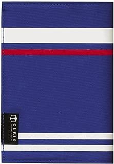 キュービックス ブックカバー ストライプ 文庫サイズ ブルー 114022-09