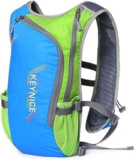超軽量 KEYNICE ランニングバッグ マラソンリュック デイパック 防水 光反射 5Lハイドレーション収納可 通気 アウトドア 登山 レース 遠足 リュックサック 8L ブルー