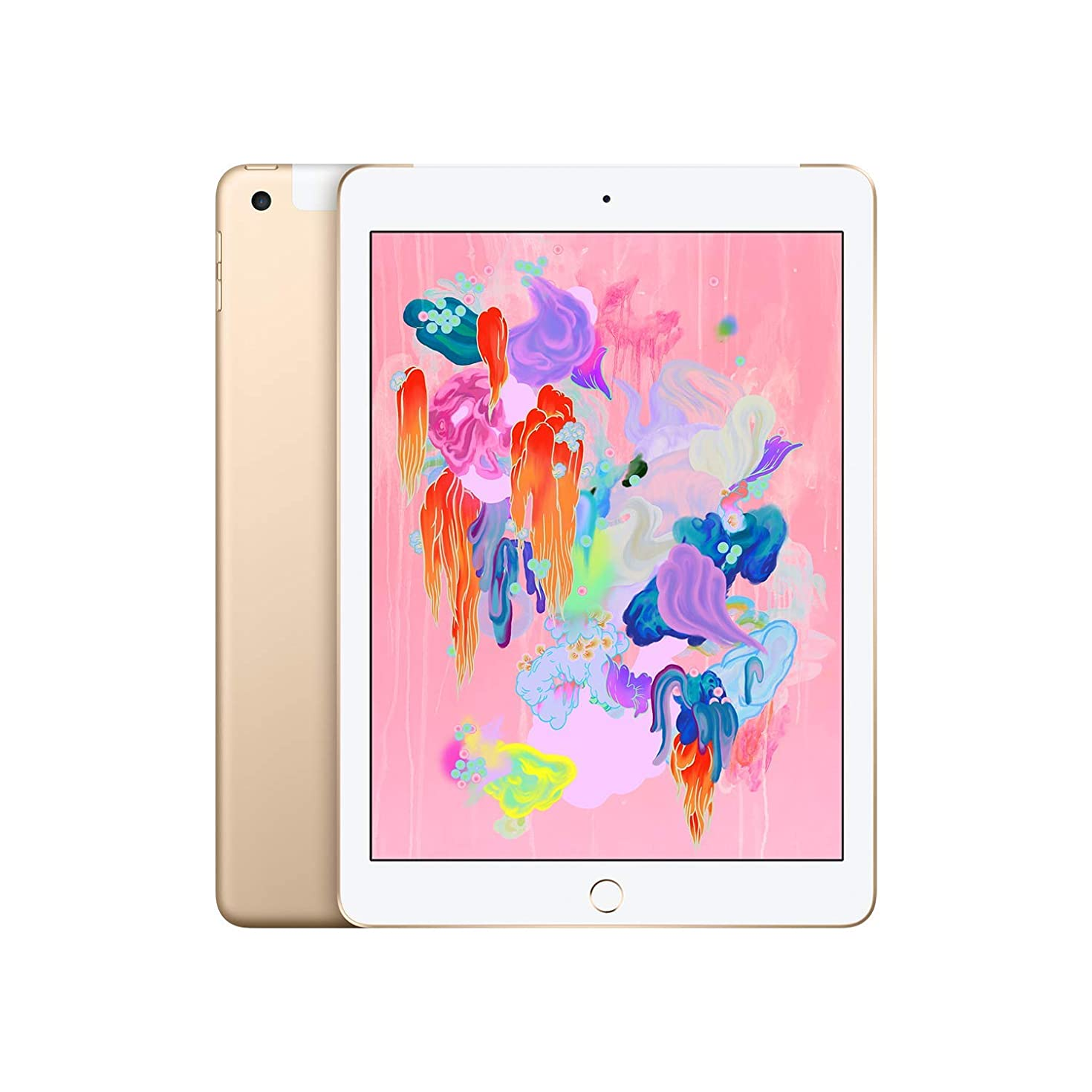 Apple iPad (Wi-Fi + Cellular, 128GB) - Gold (Latest Model)