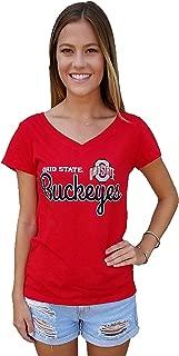 J America NCAA Women's Favorite V Neck T Shirt