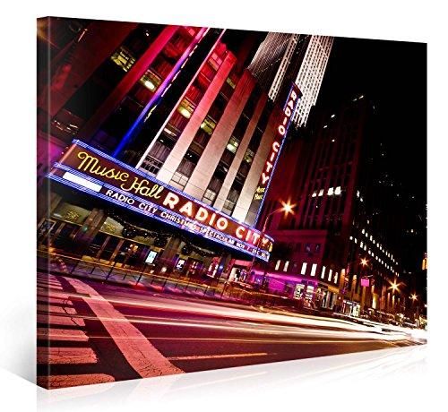 Gallery of Innovative Art – Radio City Music Hall New York City – 100x75cm – Larga stampa su tela per decorazione murale – Immagine su tela su telaio in legno – Stampa su tela Giclée – Arazzo decorazione murale