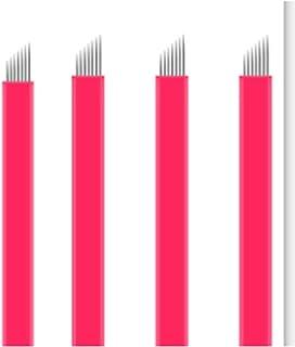 ZRNG Naalden 100 stuks Microblading Nano Agulhas Lamina Multiple Para Flex 12 14 16 18 vorm Tatoeage Bladen pasvorm for Te...