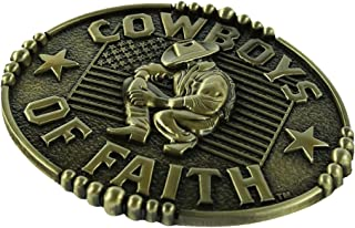 D DOLITY Western Belt Buckle, Casual Cowboy Cowgirl Belt Buckles Rings - Zinc Alloy