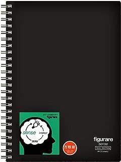 アピカ ツインリングノート フィグラーレ センス 方眼罫 A5 SW152S-BK 黒