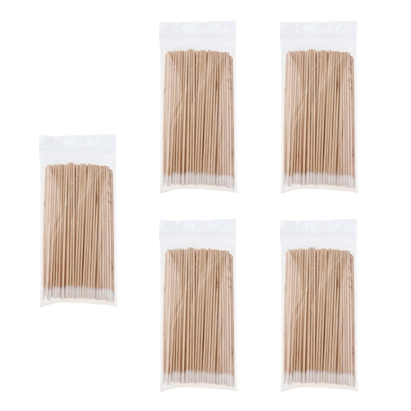 取得するキャビン現在5袋の木製の長いハンドルは、綿棒を指すリムーバークリーン滅菌スティック - 2#