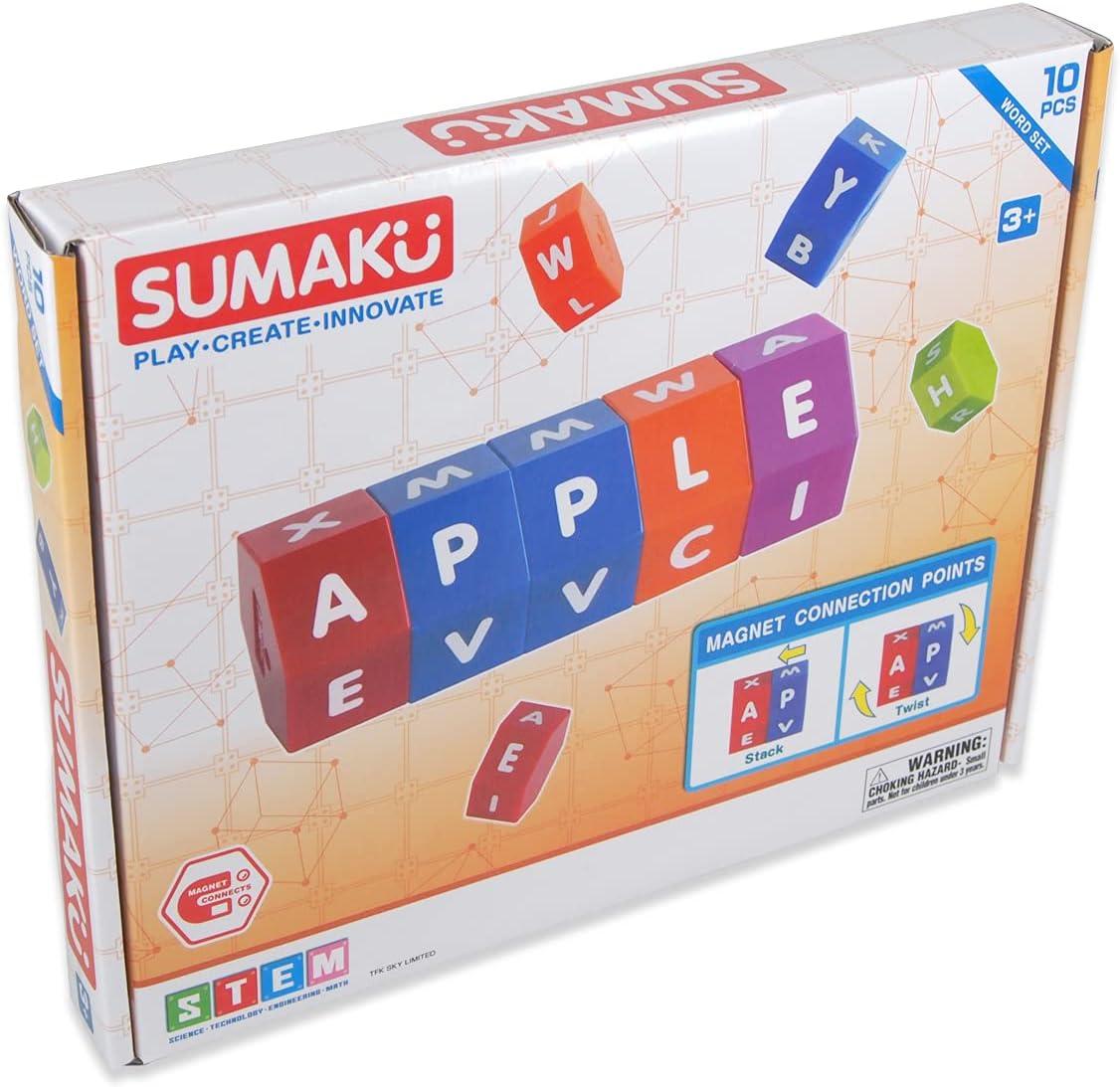 SUMAKU Magnetic Alphabet Rotating Spelling Blocks Ranking TOP13 for Max 60% OFF Education