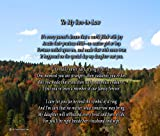 To My Son-in-law - Poem Print (8x10) - Beautiful Son-in-law Gift for Any Occasion (unframed)