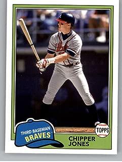 2018 Topps Archives Baseball #229 Chipper Jones Atlanta Braves 1981 Topps Design