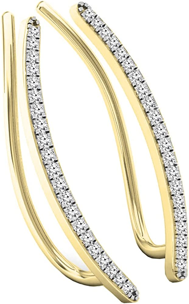 Dazzlingrock Collection 0.16 40% OFF Cheap Sale Carat ctw Tampa Mall White Di Gold 14K Round
