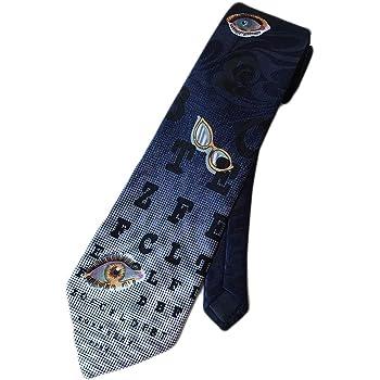Steven Harris Mens Optometrist Eye Chart Necktie - Blue - One Size Neck Tie