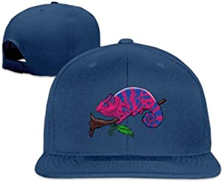 Classic Bisexual Pride Lizard Chameleon Flat Bill Trucks Hats Visor Baseball Cap