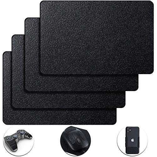 4 Pieces 5 by 7.8 Inch Cell Phone Grip Tape Rubberized Anti-Slip Safety Tape Adhesive Non-Slip Pads for Phones Gaming Cases Anti-Slip Stickers (Black)