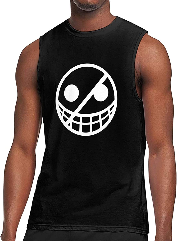 O-Ne Piece Donquixote Doflamingo Logo Tank Top Sleeveless T-Shirt Men's Anime Funny SleevelessTops